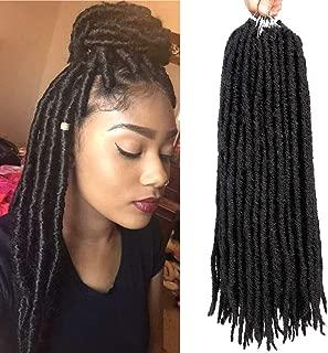 6 Packs Dreadlocks Crochet Braids Hair Synthetic Faux Locs Dreadlocks Hair Extension 18Roots/Pcs (14