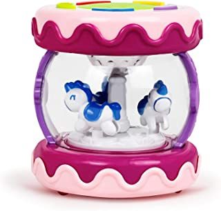 Bambiya Merry-Go-Round Toddler Music Baby Drum - Educational Toddler Learning Toys Device Can Be Used as a Drum, Plays Baby Music and Kids Songs - for Kids 6-Months and Older