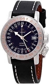 Glycine Airman 18 GMT Automatic Black Dial Men's Watch GL0230
