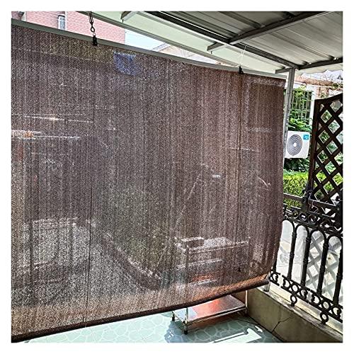 JEVCTCN Persianas para Ventanas Persianas enrollables Marrones para Exteriores, Pantalla de privacidad Enrollable para Patio/cenador/pérgola, Cortinas de Polietileno con protección Solar