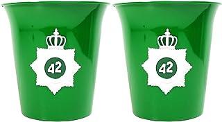 42 Below Vodka Flaschen-Kühler 2er Set aus Edelstahl grün ~mn 404 7h1r