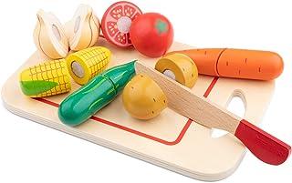 New Classic Toys – 10577 – rollspel för barn – Skäruppsättning grönsaker med brädor – 8 delar