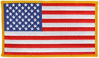 FIRE NINJA American Flag Embroidered Patch Gold Border USA First Responder Saftey Vest Emblem. Made specifically for vest Small patch.