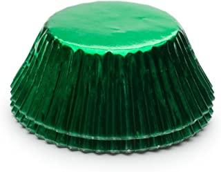 Fox Run 6980 Green Foil Disposable Bake Cups, 3 x 3 x 1.5 inches,