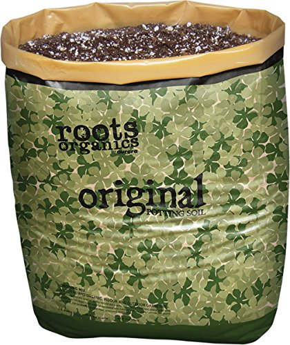 Roots Organics Original Potting Soil, Organic Growing Media with Mycorrhizae.75 Cubic Foot Plant-in-Bag