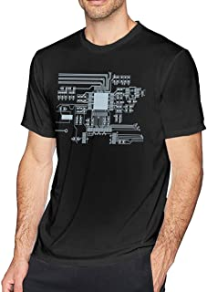 Men's Big Tall T-Shirt Printed CPU Crewneck Athletic Short Sleeve for Youth Adult S-6XL