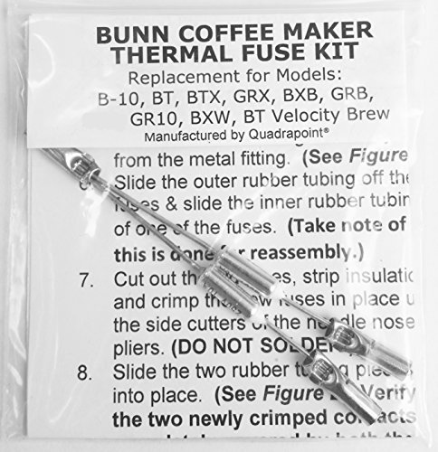 Repair Your Bunn Coffee Maker, Water Not Heating? Thermal Fuse Harness (B-10, GRX, BXB, BTX, GRB, BR10, BXW, BT Velocity Brew) Replacement Part