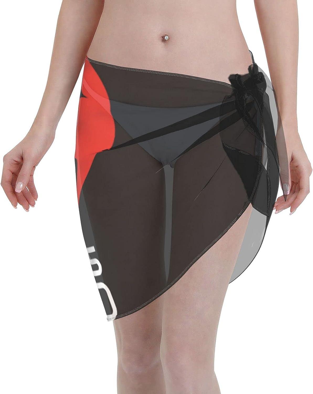 Mars 2020 Women Short Sarongs Beach Wrap Wraps Chiffon Cover Ups for Swimwear Black