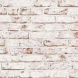Papel pintado tnt ladrillo Papel imitacion piedra Papel imitacion ladrillo beige marrón 907813 90781-3 A.S. Création New England 2 | beige/marrón | Rollo (10,05 x 0,53 m) = 5,33 m²
