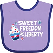 Inktastic Sweet Freedom and Liberty with Red, Baby Bib Lavender and Purple