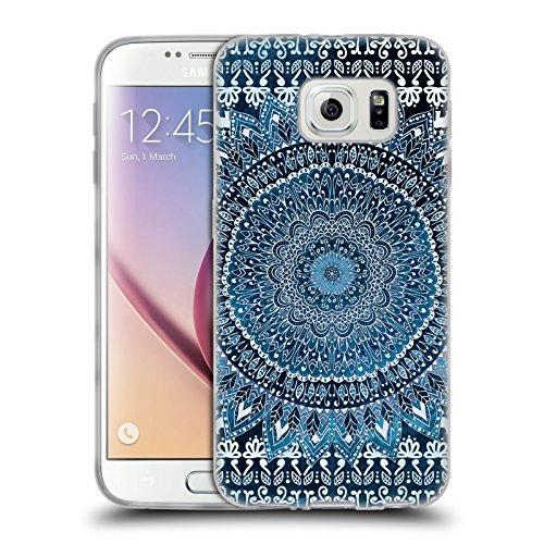 Head Case Designs Licenza Ufficiale Nika Martinez Blu Mandala Cover in Morbido Gel Compatibile con Samsung Galaxy S6