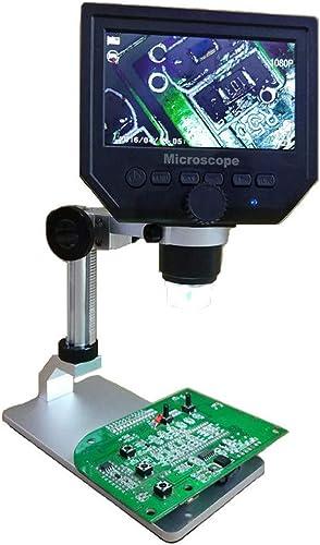 Wokee 4,3 Zoll LCD Digital Handy Reparaturmikroskop Mikroskop,600X VerGrößerung Video Recorder für Textil,Haut Lupe,EU,Schwarz