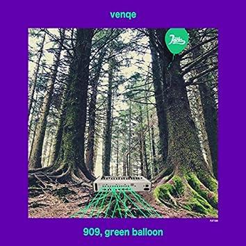 909, green balloon