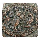 LAOJUNLU Bronce Antiguo Recogida Antiguo Dragón Pequeño Sello Imitación de bronce antiguo colección de solitario chino tradicional joyería