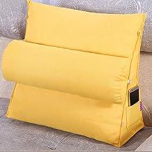 DECUHTE Adjustable Support Cushion,Cotton Linen Headrest Backrest Triangle Back Wedge Cushion Lumbar Pillows Sofa Office C...