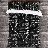 Lil Peep Duble Cover 3D Set di biancheria da letto 3D 3pcs Novità Comforter Duvet Cover Set per ragazzi bambino adolescenziale Ragazze per adulti bambini-Doppia dimensione: 200x200cm