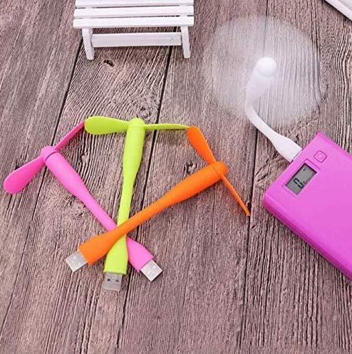Ventilador USB flexible Mini USB Out Poner Mini Ventilador Portátil USB Gadgets Para Tablet Banco de Poder Ordenador Ventilador USB extraíble (color al azar) 5 piezas