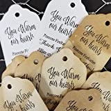 """You Warm Our Hearts Pinecone firestarter sets of 25 Tags 1 1/8"""" x 2"""""""