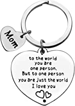 Mum Keyring Keychain Gift from Daughter Son Birthday Gifts Mother Gift Appreciation Gift Thank You Gift for Mother Mom Christmas Wedding Mother's Day Gift for Mom Stainless Steel Keyring