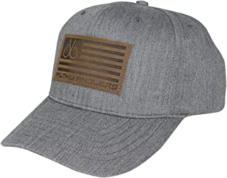 Filthy Anglers Snap Back Leather Patch Flag Fishing Hat for Men & Women