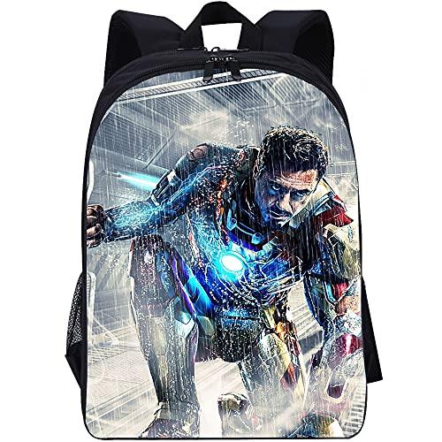 YITUOMO Mochila escolar, mochilas para niñas, niños, guapo Iron Man, útiles escolares para niños, mochila grande para viajes escolares, regalos para niños, niñas, adolescentes