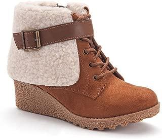 Mudd Girls' Wedge Boots COGNAC SIZE 12