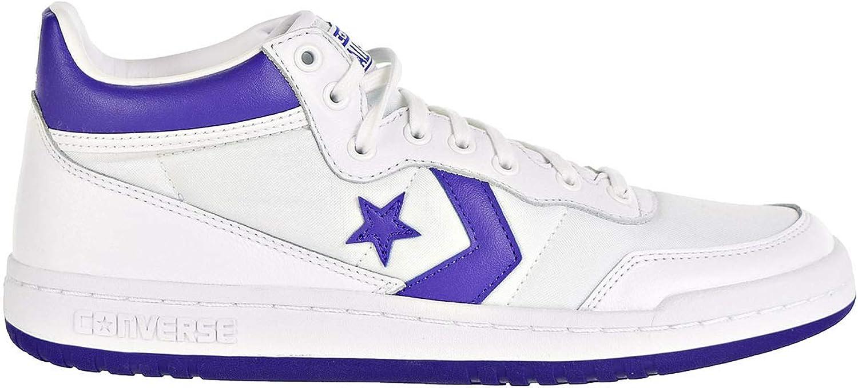 Converse Men's Fastbreak, White Purple
