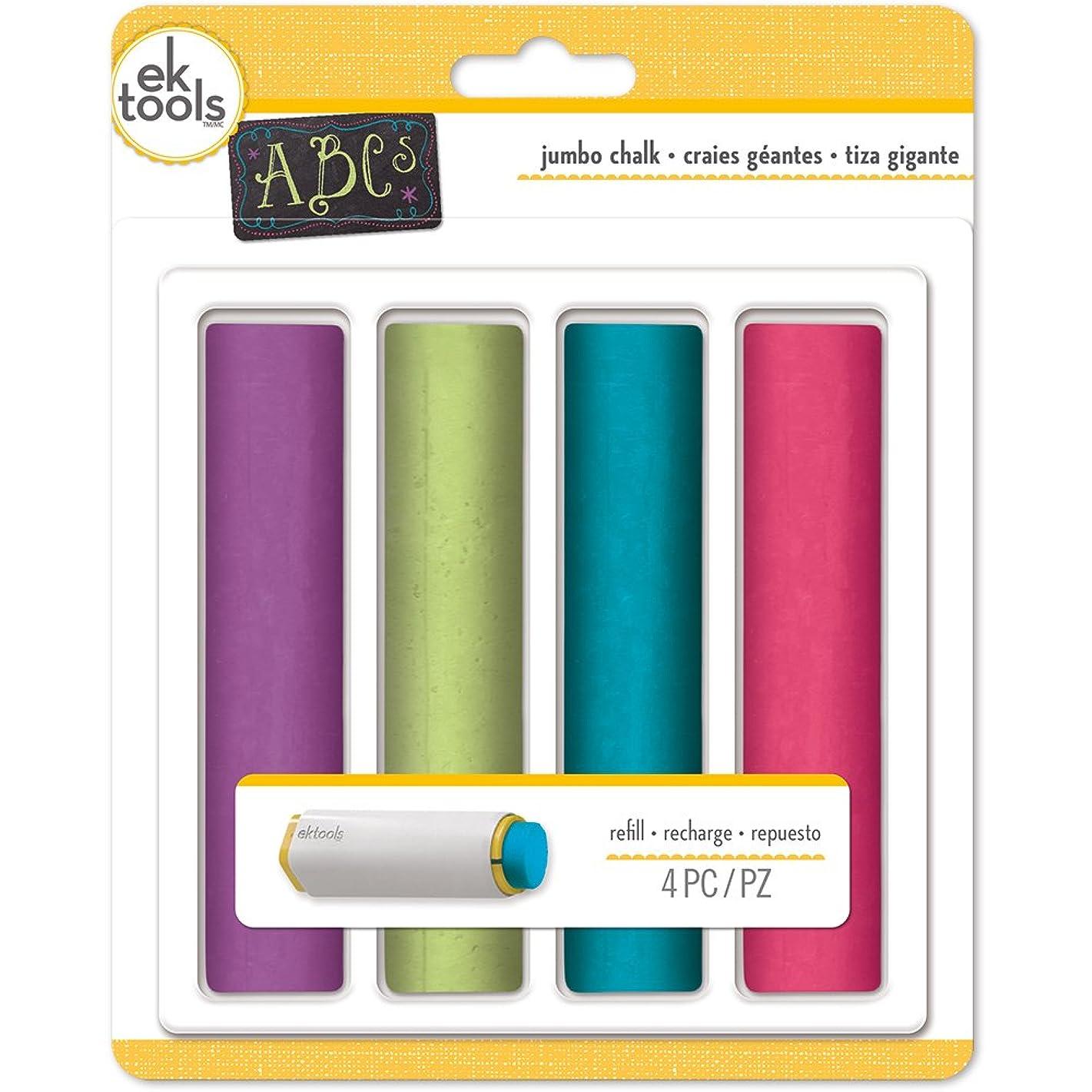 EK Tools Jumbo Refills Pack Brights Chalk