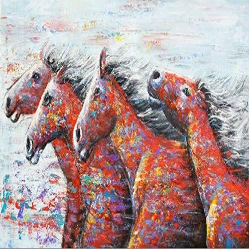 Abstract lopende paardenmuur kunst canvas print moderne pop art dierlijke muurschildering print op canvas