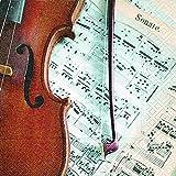 20 Servietten Geige auf Noten / Musik / Instrument 33x33cm