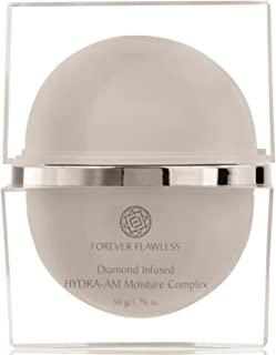 Forever Flawless HYDRA-AM Daily Moisturizer Cream with 100% Natural White Diamond Infused Powder & Vitamin C, Designed For Anti Wrinkle & Anti Aging. On Face, Neck and Decollete FF11, (1.76 oz)