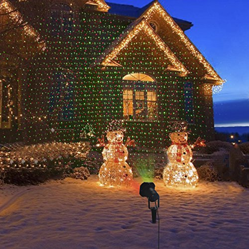 outdoor christmas laser light projector with timer