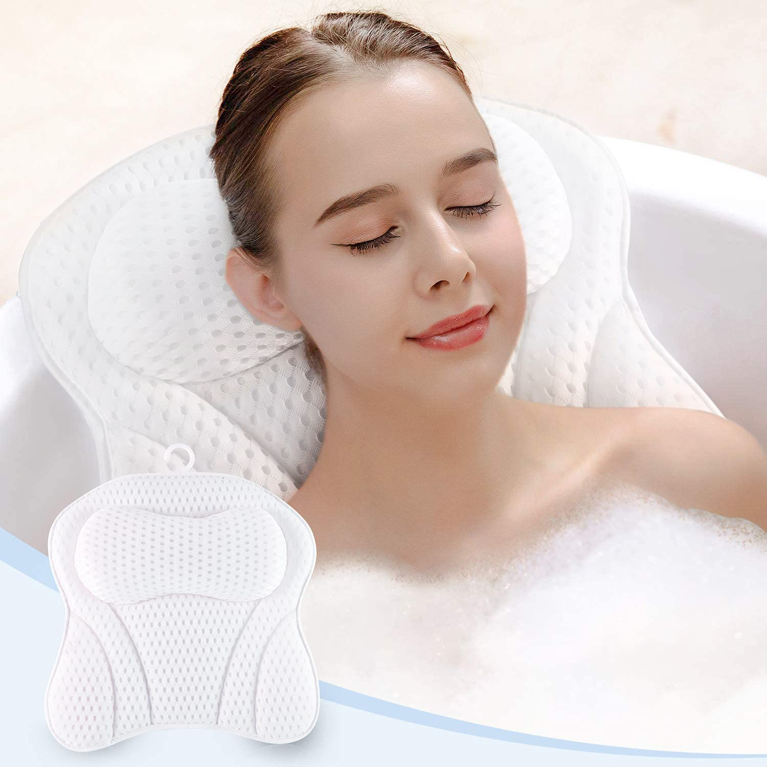 LAOPAO Bath Pillow 4D Bathtub NEW for Low price and Supp Back Head Neck