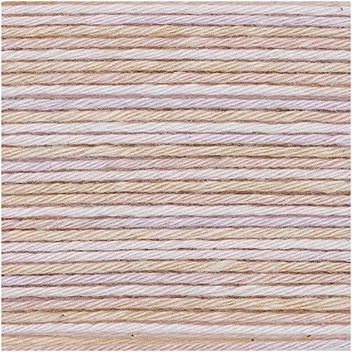 Rico Baby Cotton V-BRR-ET Soft Print DK 50 g – Couleur : 24 – Rose Naturel – Coton Fin pour Mode bébé – (Rouge)
