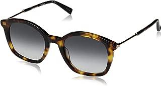 Max Mara Women's Mm Wand Ii Square Sunglasses, Brown Havana, 51 mm