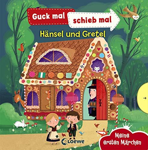 Guck mal, schieb mal! Meine ersten Märchen - Hänsel und Gretel: Pappbilderbuch, Buch mit Klappen ab 2 Jahre