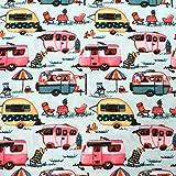 MAGAM-Stoffe Happy Holiday Caravan Wohnwagen Kinder