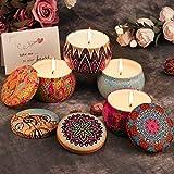 Duftkerze ARINO Aroma Kerzen Naturwach in Dose 4er Deco Kerzen Geschenk Set – Natürliches Aromen von Rose Zitrone Labendel Mittelmeer für Entspannung Diffuser und Aromatherapie - 2