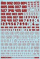 1/144 GM ナンバーデカール No.5 「ミリタリーステンシル&ラインシェイプ」 レッド