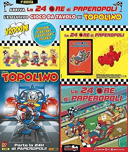 Fumetto Supertopolino N° 3416 + Auto Zio Paperone, 23 Carte, Scatola e Istruzioni – Disney Panini Comics – Italiano