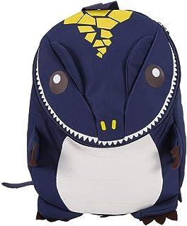 Mochila de Dinosaurio 3D Mochilas Dinosaurios para niños Kindergarten niños Schoolbag Boys Girls Lovely Bag Carton Animal Figure Bag(Azul Oscuro)