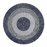 BCGT Alfombra Tejida Alfombra Redonda de Yute, Manta Tejida a Mano Alfombra Natural, diámetro 80 cm / 100cm / 120cm / 150cm (Color : Blue, Size : 150×150cm)