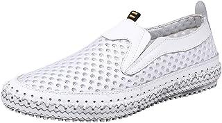 zpllsbratros Mocassins Homme Mesh Respirant Eté Loafers Chaussure de Conduite Détente Confort Baskets Basse 38-48