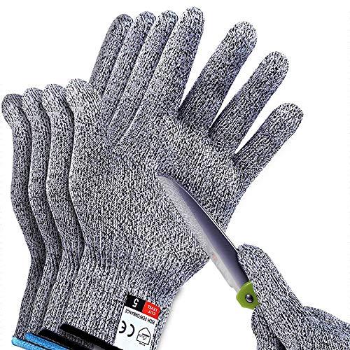2Pair Sunwuun Cut Resistant Gloves Work Gloves Level 5 Working Safety Glove...