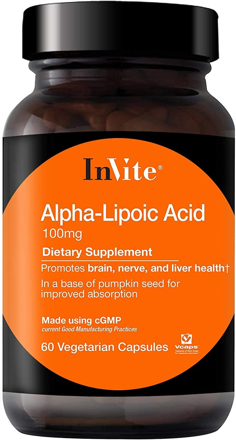 Great interest InVite Super beauty product restock quality top! Health Alpha Lipoic Acid Nerve Brain an 100mg Promotes