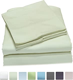 Callista Queen Size Bedding Sets- 100% Cotton -Extra Soft Sateen-Deep Pocket - 400 Thread Count Easy Fit, Breathable and Cooling Sheets -Luxury Queen 4 Pc Bed Set - Ivory