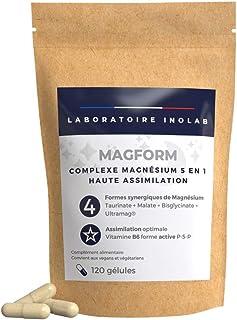 MAGFORM |Magnesio 1700mg per dose + Vit B6 | Alta Biodisponibilità | 4 Mg complementari: bisglicinato chelato, malato, tau...