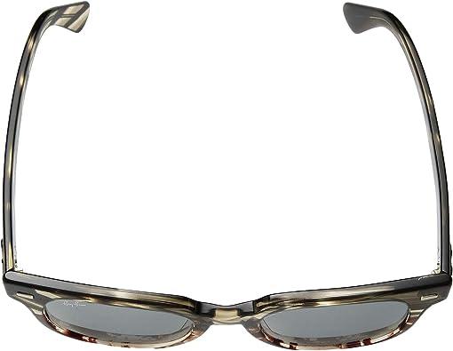 Gray Gradient Brown Striped/Blue Mirror/Gold/Anti-Reflection Blu