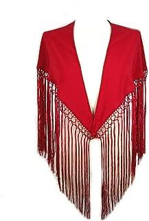 Individuel Foulard cintur/ón Chale De baile Flamenco bordado cabezal Seville Espa/ña 110 cm rojo