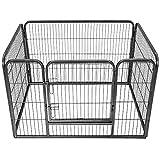TecTake Parc enclos Exterieur pour Chiot Grillage Installation à Ciel Ouvert - diverses modèles - (rectangulaire | no. 401718) | Dimensions (L x l x H) : env. 125 x 85 x 70 cm